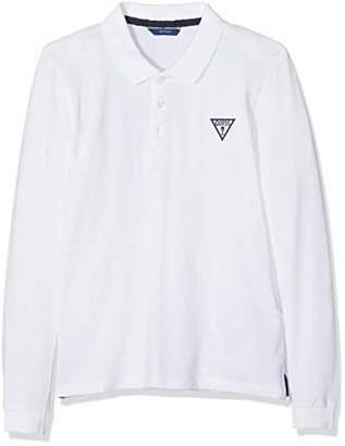 GUESS Boy's L83p04k5ds0 Polo Shirt, (True White A000 Twht), (Size: 16)