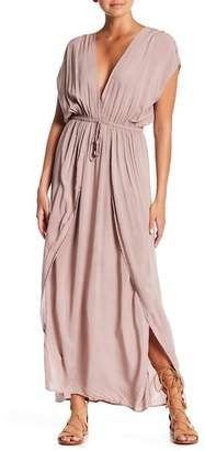 Elan International Cap Sleeve Maxi Dress