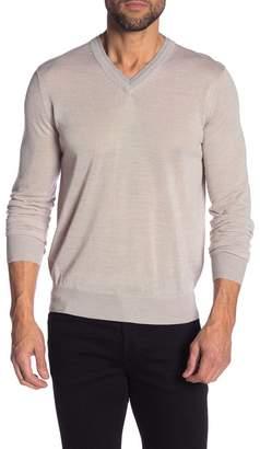 Toscano Double Collar V-Neck Sweater