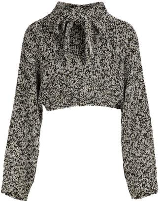 Loewe Cropped lurex sweater