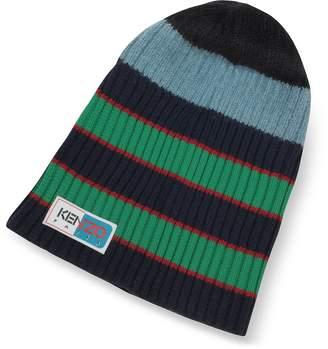 b82b6a90a2e314 Kenzo Blue Stripy Wool Beanie