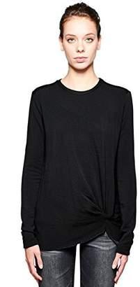 Stateside Women's Fleece Long Sleeve Twist Front Tee