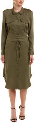 BCBGMAXAZRIA Corset Shirtdress