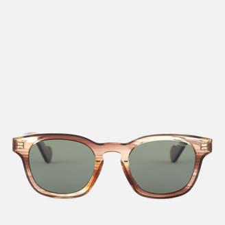 Moncler Men's Wayfarer Sunglasses - Light Brown/Other/Green Polarized