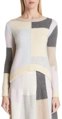 ADAM by Adam Lippes Patchwork Cashmere & Silk Sweater