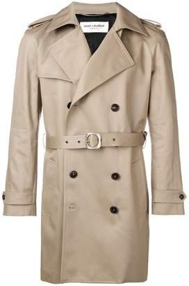 Saint Laurent short trench coat