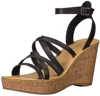 Rampage Women's Zaira Strappy Platform Cork Wedge Sandal