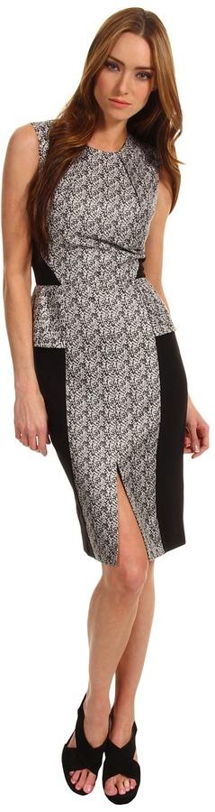 Rachel Roy Peplum Dress (Black Multi) - Apparel