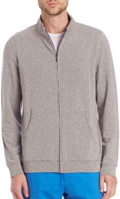 Saks Fifth Avenue COLLECTION French Terry Zip Sweat Jacket