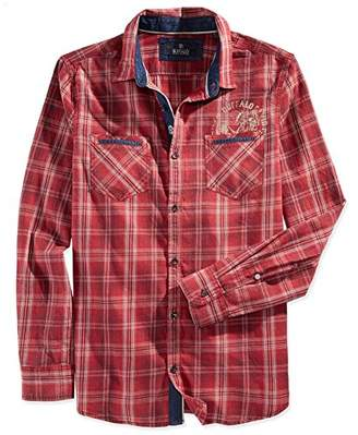 Buffalo David Bitton Men's Satako Long Sleeve Plaid Woven Shirt