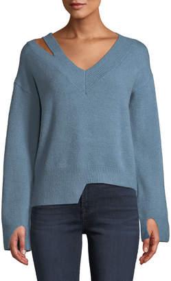 Few Moda Asymmetric Cut-Out Shoulder Sweater