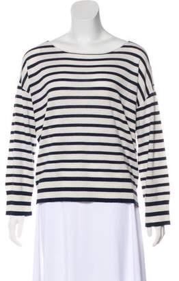 Nili Lotan Wool & Silk Striped Sweater