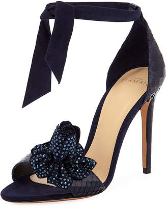 Alexandre Birman Clarita Blossom Ankle-Tie Sandal