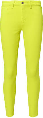 L'Agence Margot Yellow High-Rise Ankle Skinny Jeans