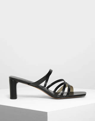 Charles & Keith Strappy Open Toe Mules