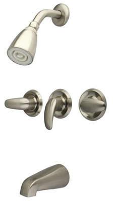 Kingston Brass Legacy Three Handle Tub & Shower Faucet