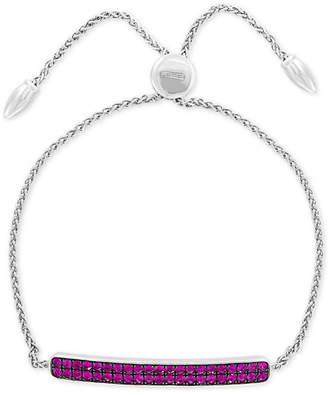 Effy Ruby Cluster Bolo Bracelet (1-1/10 ct. t.w.) in Sterling Silver