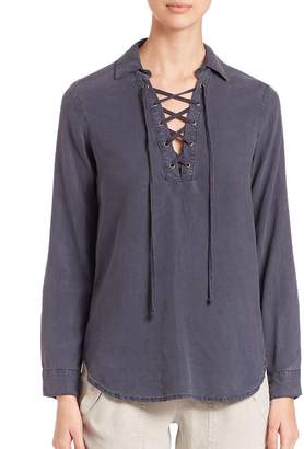 Bella Dahl Women's Lace-Up Pullover