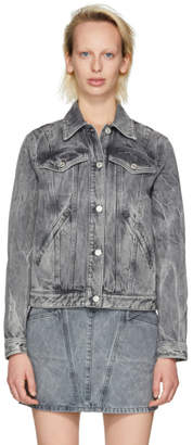 Givenchy Grey Studded Denim Jacket
