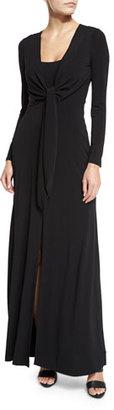 Alice + Olivia Salina Tie-Front Long-Sleeve Maxi Dress $395 thestylecure.com