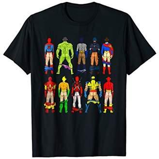 Hero's Heroine Superhero Butts Tshirt Action Heros 4 Women Men Guys Adults