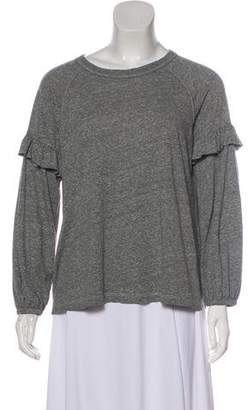 The Great Ruffle-Trimmed Long Sleeve Top
