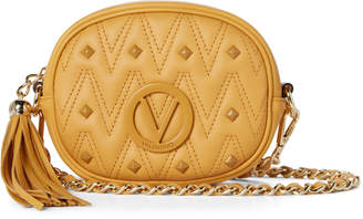 Mario Valentino Valentino By Yellow Arya Studded Tassel Crossbody
