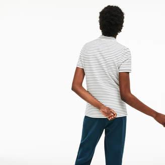Lacoste Women's Slim Fit Striped Stretch Cotton Mini Pique Polo