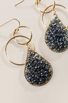 francesca's Tessa Teardrop Earrings - Navy