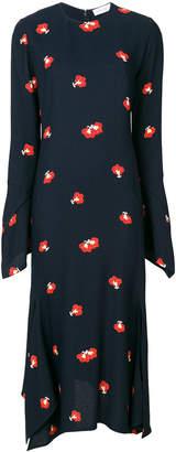 Victoria Beckham floral-print midi dress