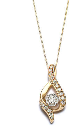 Macy's Diamond Ribbon Pendant Necklace in 14k Gold, Rose Gold or White Gold (3/8 ct. t.w.)