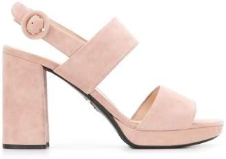 Prada chunky heel sandals