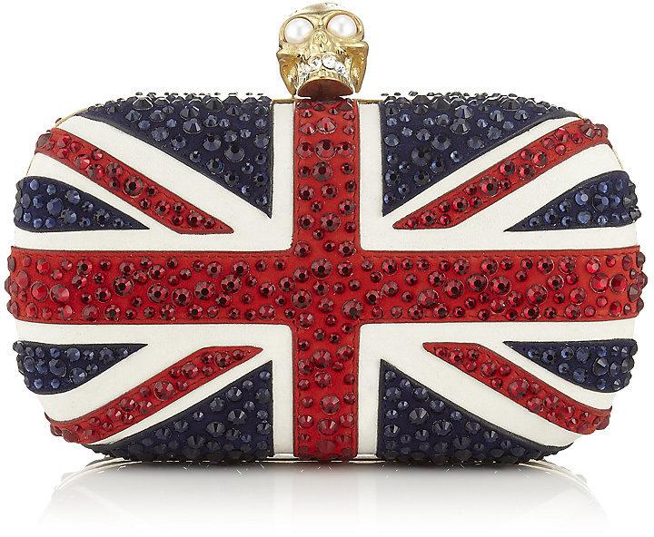 Alexander McQueen Crystal Britannia Skull Box Clutch