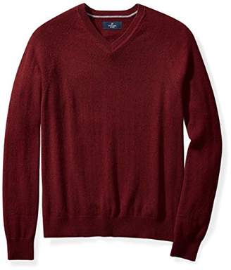 Buttoned Down Men's Cashmere V-Neck Sweater,(Satisfaction Guaranteed)
