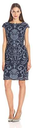Julia Jordan Women's Sleeveless Placement Stretch Lace Body Con Shift Dress $51.45 thestylecure.com