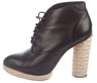 Loeffler Randall Leather Round-Toe Booties