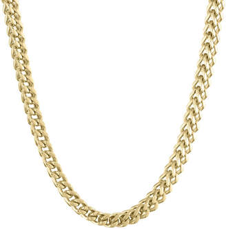 JCPenney FINE JEWELRY Mens Stainless Steel & Gold-Tone IP 22 6mm Foxtail Chain