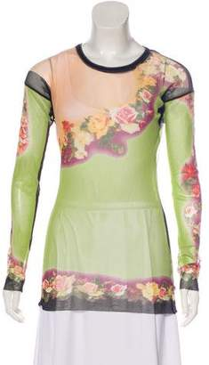 Jean Paul Gaultier Semi-Sheer Printed Top