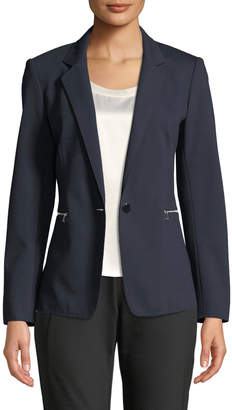 Lafayette 148 New York Lyndon Zip-Pocket Punto Blazer