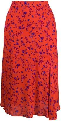 McQ floral print midi skirt