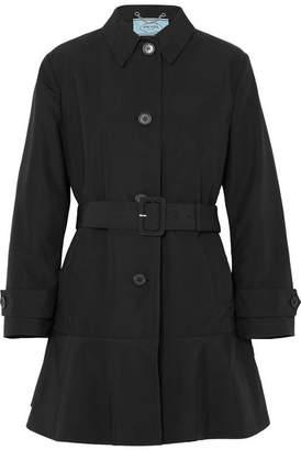 Prada Cotton-blend Gabardine Trench Coat - Black