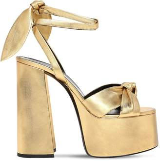 Saint Laurent 85mm Paige Metallic Leather Sandals