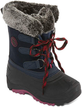 totes Girls Jessica Winter Boots Water Resistant Elastic