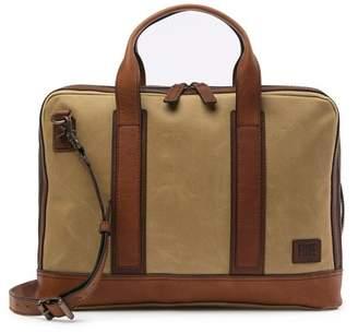 Frye Carter Leather Trimmed Slim Briefcase