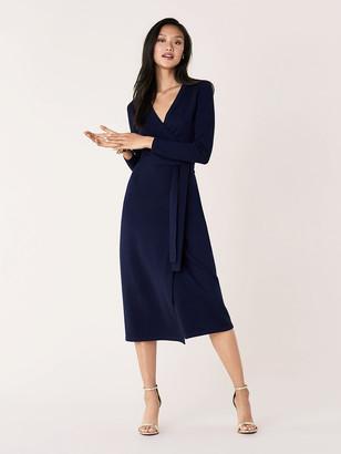 Diane von Furstenberg Astrid Wool-Cashmere Wrap Dress