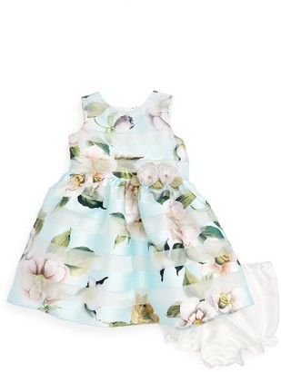 Infant Girl's Pippa & Julie Floral Stripe Dress $48 thestylecure.com