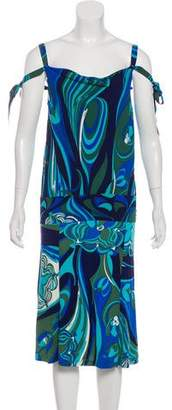Emilio Pucci Printed Silk Skirt Set