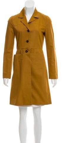 Knee-Length Notch-Lapel Coat