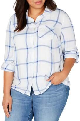 Style&Co. Style & Co. Plus Plaid Cotton Shirt