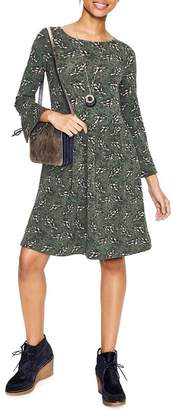 Boden Casual Tie Sleeve Fit & Flare Dress (Regular & Plus Size)